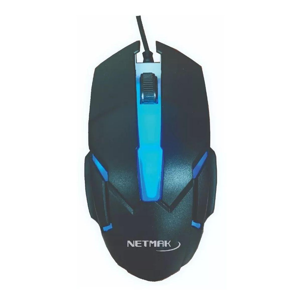 Netmak Mouse Gamer NM-Galax Retroiluminado 800DPI